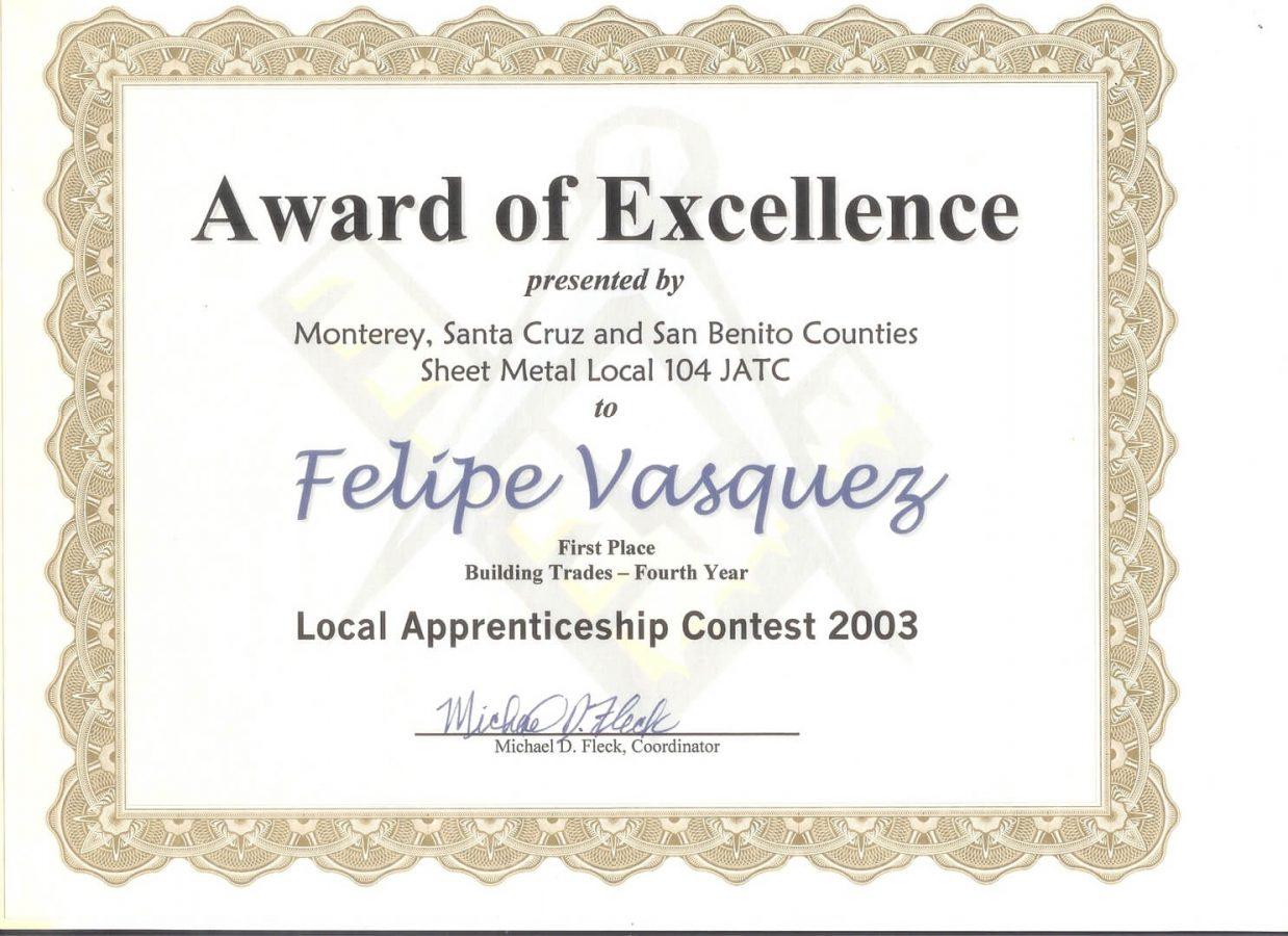 Experience Certificate 1