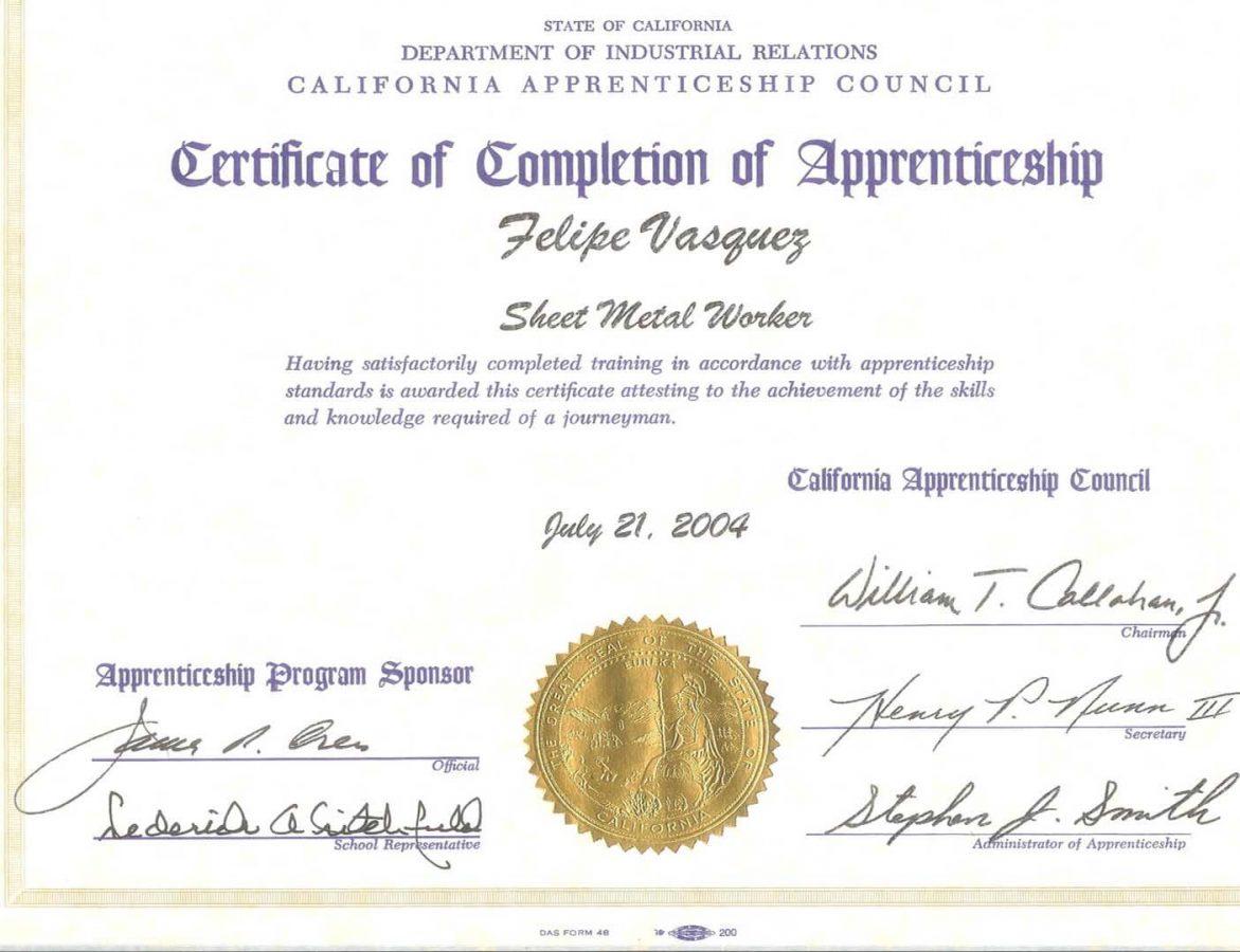 Experience Certificate 6