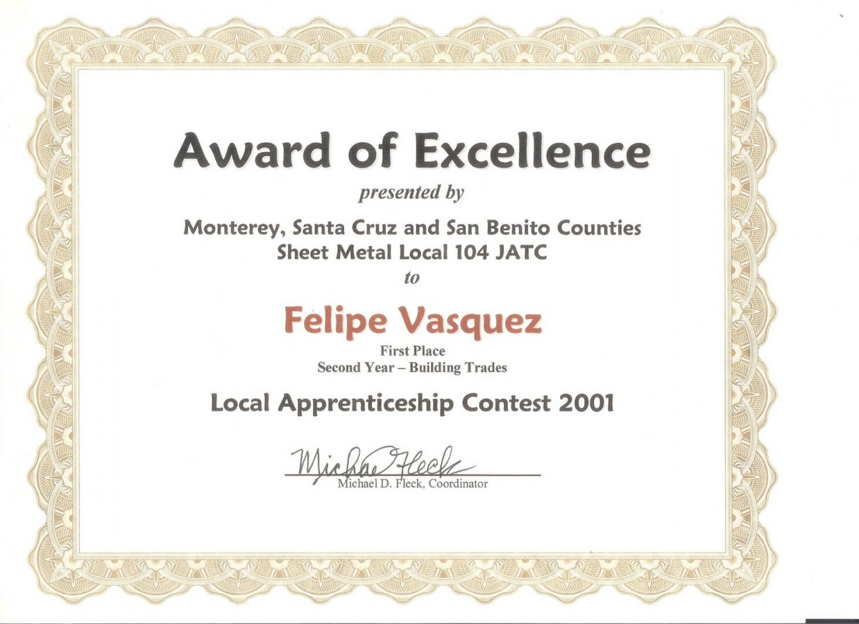Experience Certificate 4